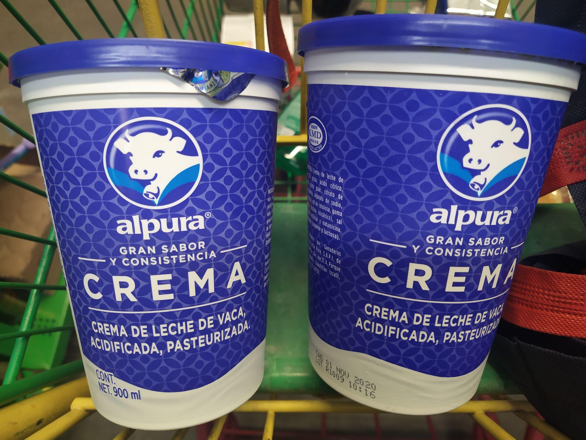 Bodega Aurrera: Crema Alpura Regular 900gr