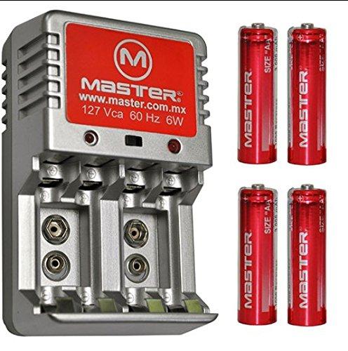 Amazon - Cargador de baterías AA, AAA, 9V, 6W con indicador de Carga