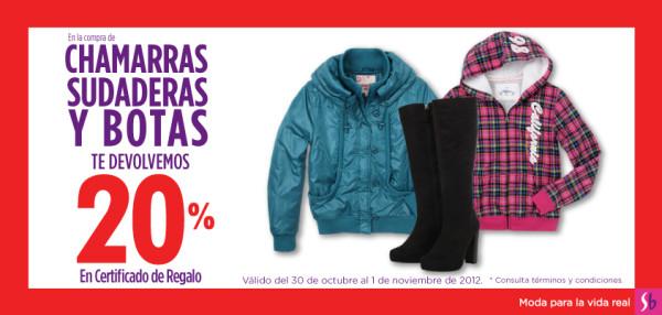 Suburbia: 20% en certificado de regalo al comprar chamarras, sudaderas y botas