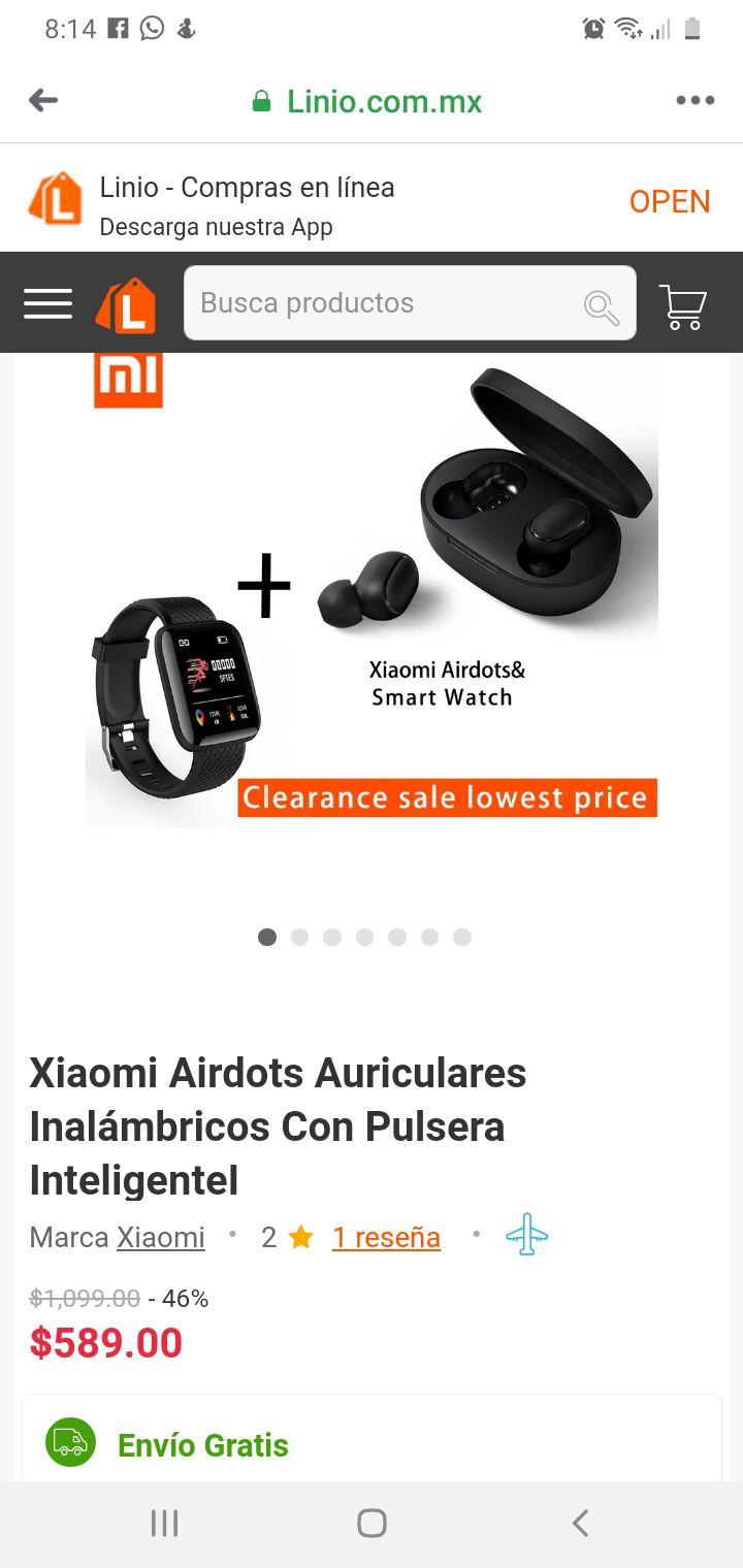Linio: Xiaomi airdots y Smart watch