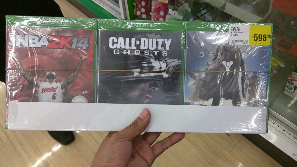 La Comer Pilares: Starter pack 3 juegos Xbox One - Destiny, CoD Ghost, NBA2K14 y más