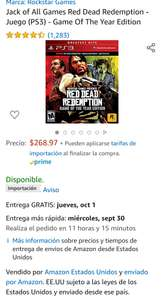 Amazon: Jack of All Games Red Dead Redemption - Juego (PS3) - Game Of The Year Edition