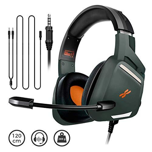 Amazon: BINDEN Audífonos Gamer G800 Ligeros con Cancelación de Ruido Exterior Sonido Estéreo con Micrófono Compatible con PC,