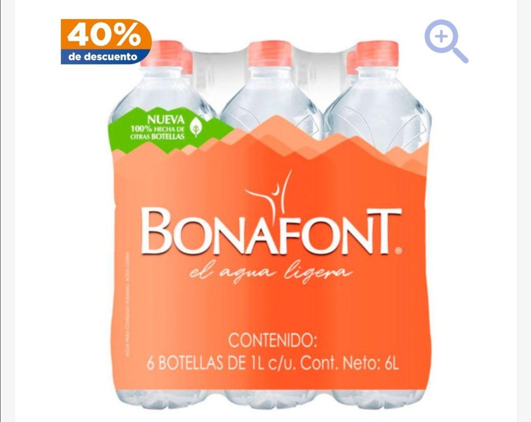 Chedraui: Pack agua Bonafont 1LT 6 unidades