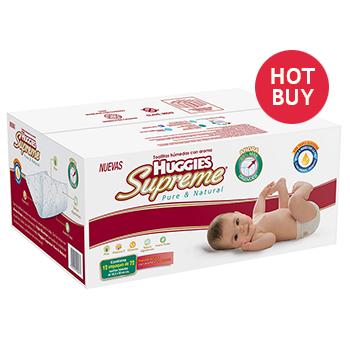 Costco en linea, Toallitas Huggies Supreme Caja con 12 ($21.25 c/u)
