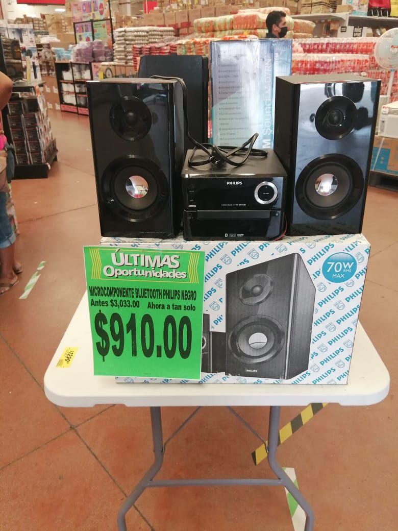 Soriana: minicomponente Philips en liquidación