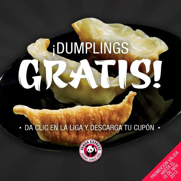 Panda Express: orden de Dumplings gratis con cupón