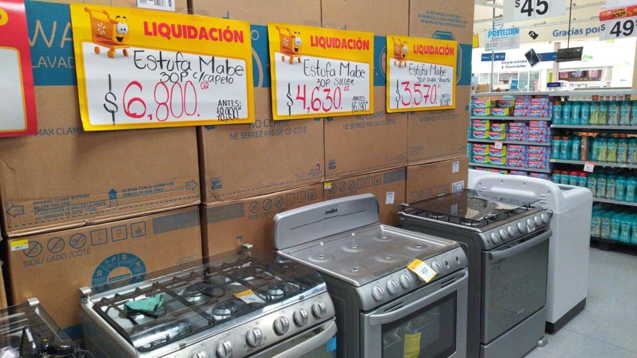 Walmart: Estufas mabe 6 quemadores en liquidación