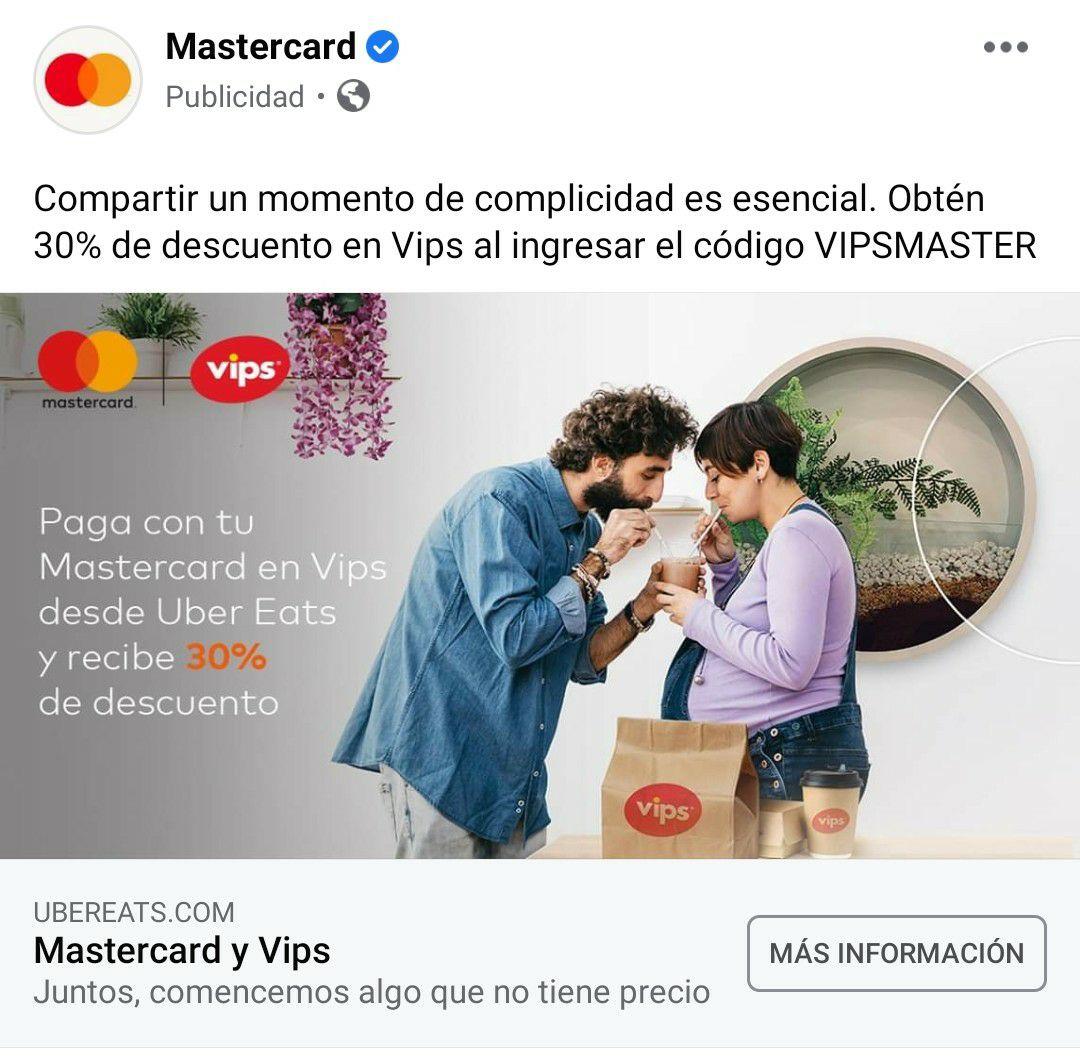 Uber Eats & VIPS: Caldo tlalpeño o Enchiladas de mole $24.5 c/u pagando con Mastercard