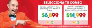 Soriana en línea: Pantalla LED Smart TV LG 32'' Full HD + Roku Streaming stick o Roku 1 player a $6,899