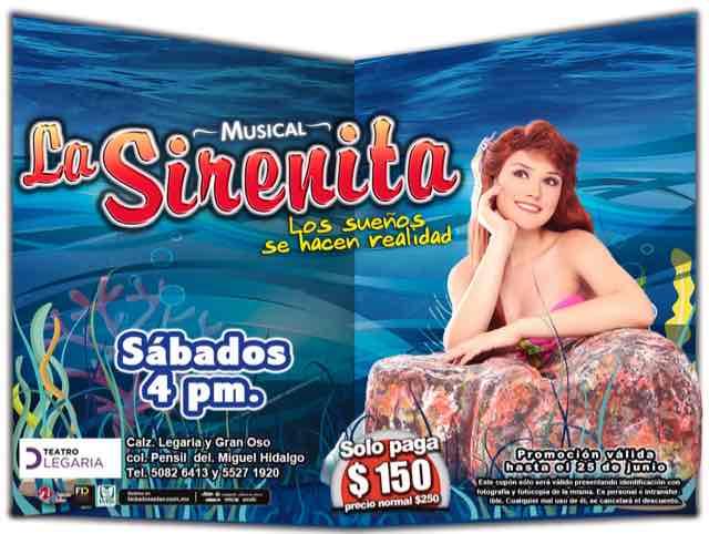 Teatro Legaria: Musical La Sirenita (CDMX)