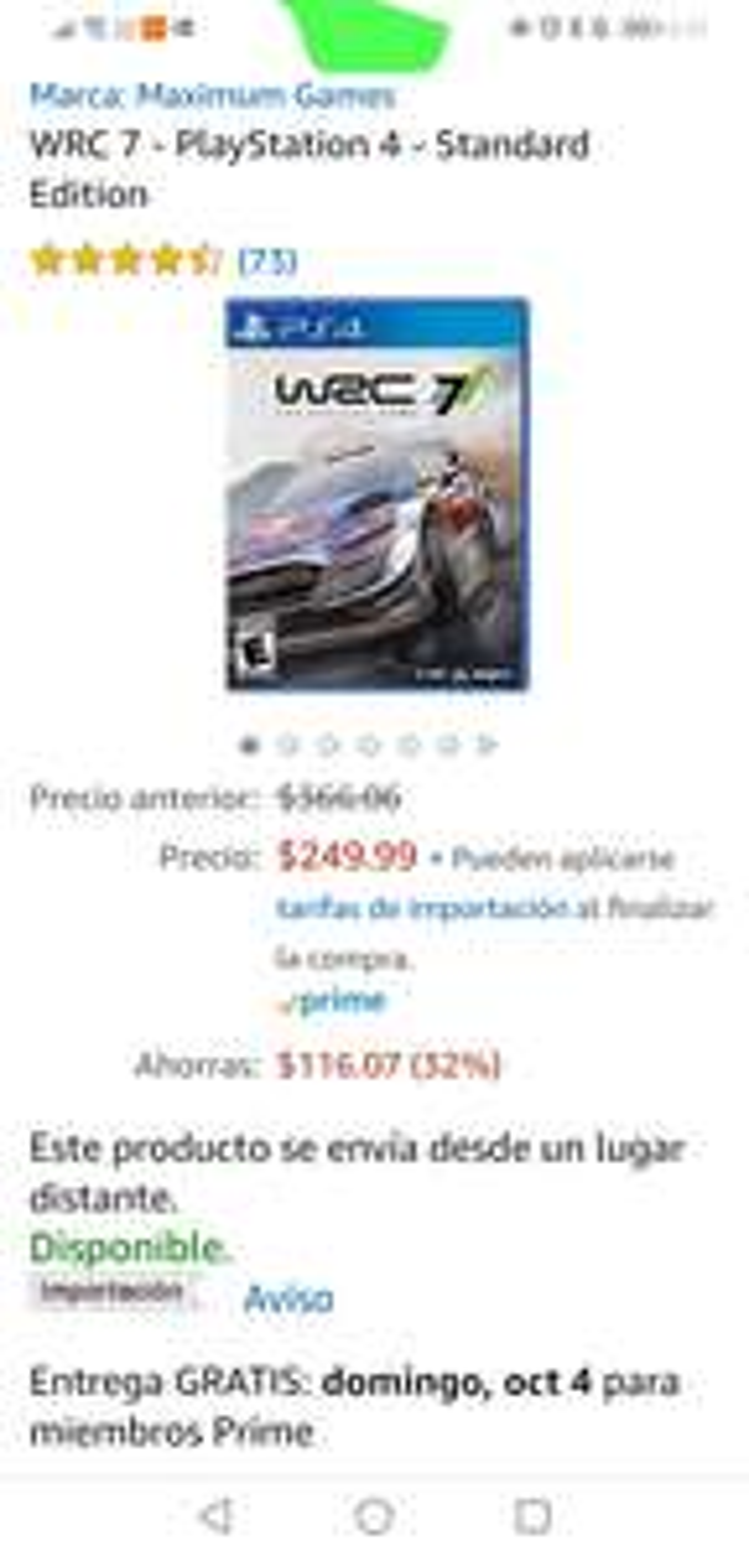 Amazon: WRC 7 para PS4