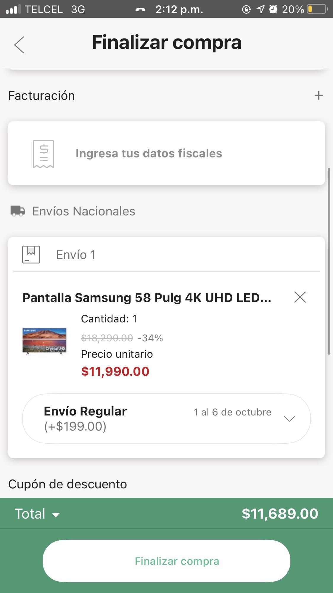 Linio: Pantalla Samsung 58 Pulg 4K UHD LED Smart TV co