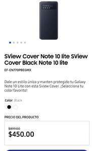 Samsung Store: SView Cover Note 10 lite SView Cover Black Note 10 lite