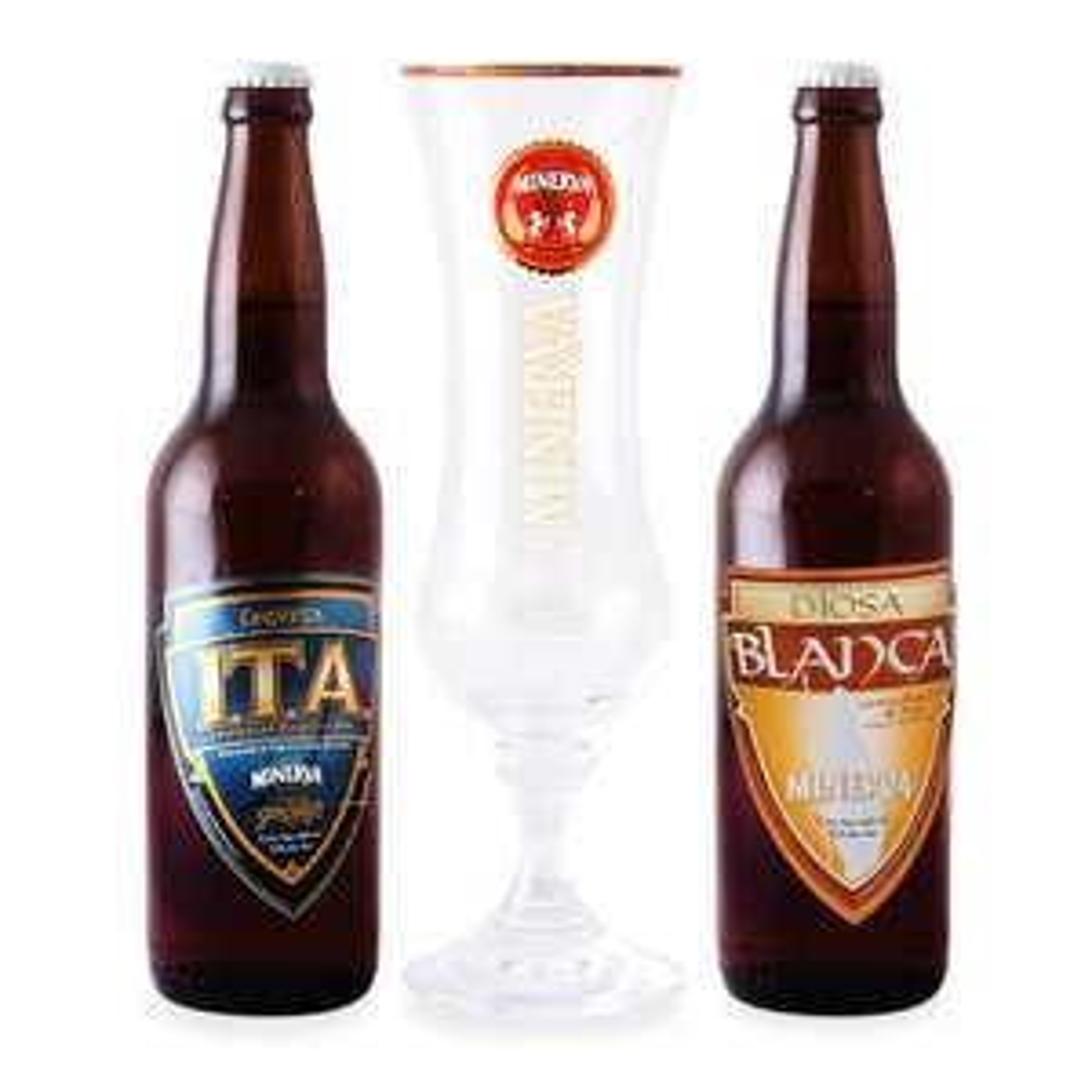 Superama en línea: Paquete dos cervezas de temporada Minerva 660 ml c/u más copa a $159