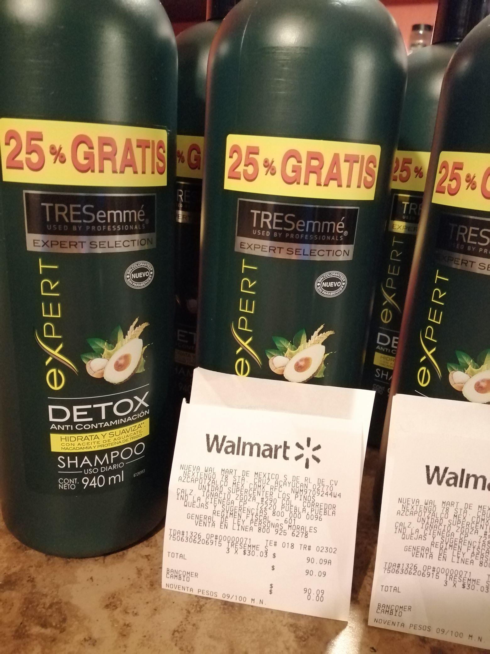 Walmart los Pinos Puebla, Shampoo Tresemme