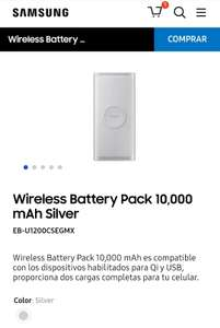 Samsung Store: Wireless Battery Pack 10,000 mAh Plata