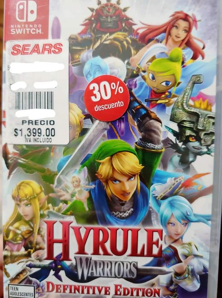 Sears La Paz, BCS: Zelda Hyrule Warriors para Switch