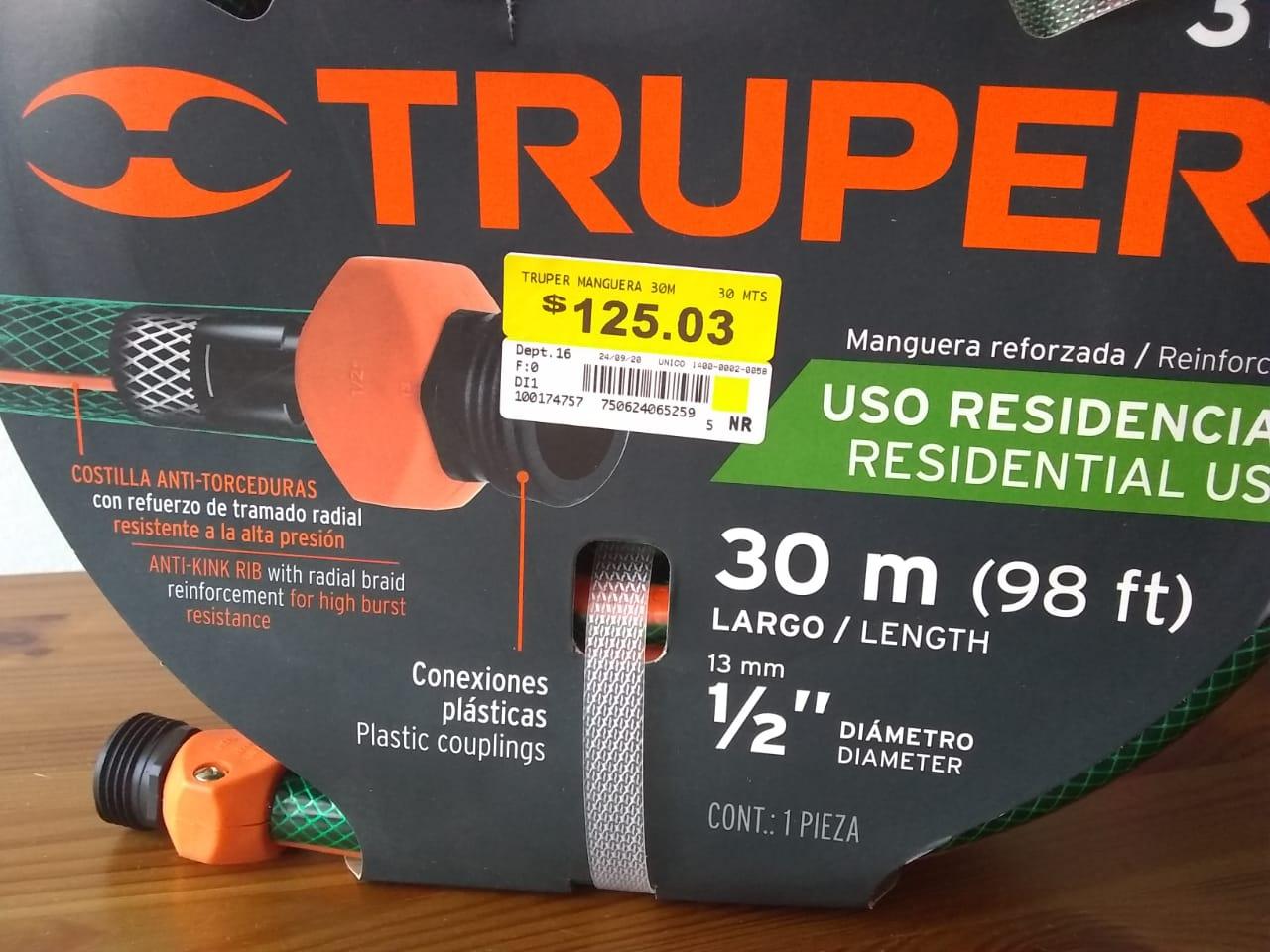 Walmart Copilco: Manguera Truper 30 metros triple capa primera liquidacion