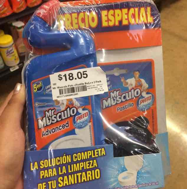 Chedraui Santa Fe Cancún: Pastilla+Pato Mr. Musculo. Descuento de $30 a $18
