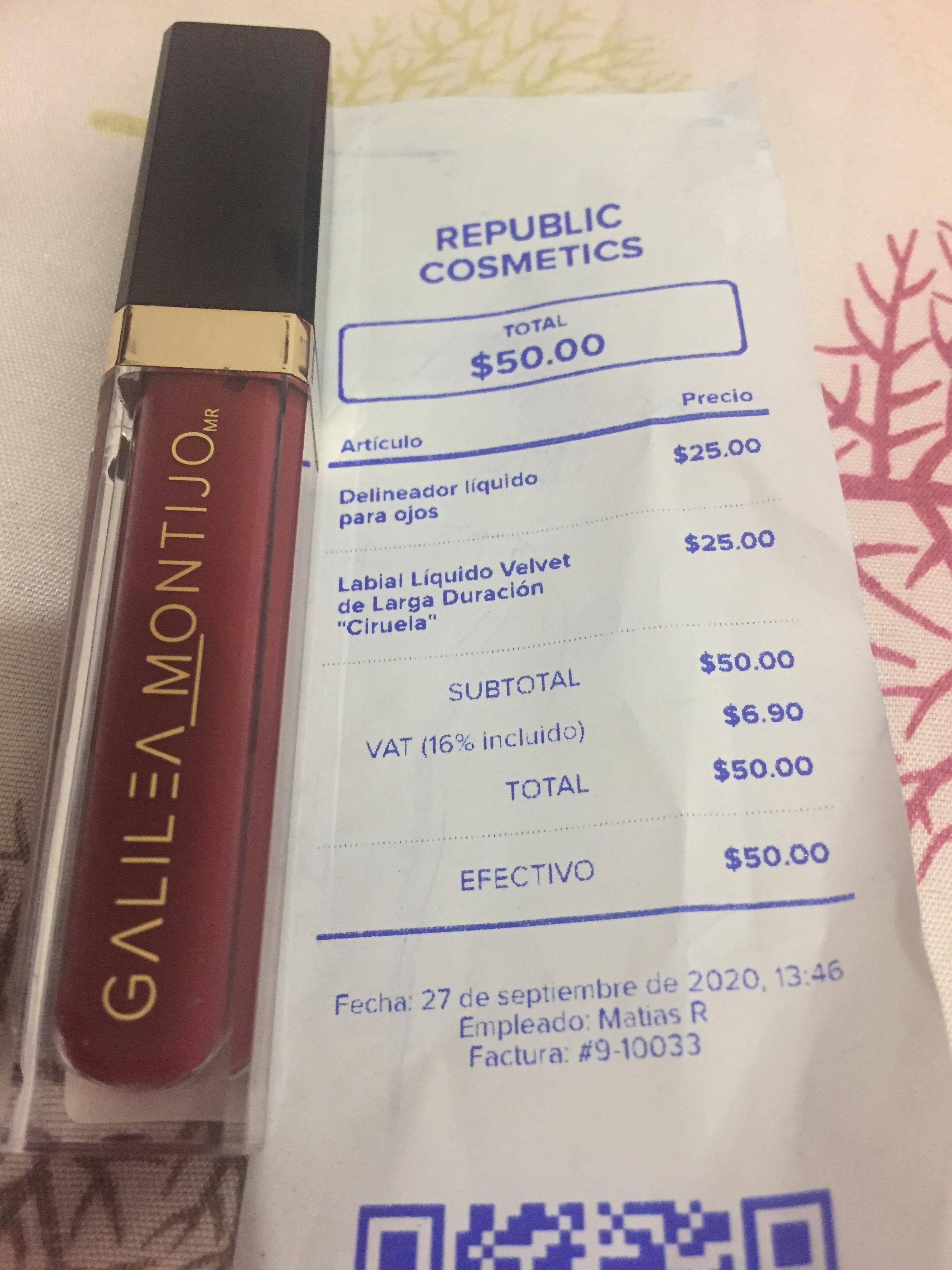 Republic Cosmetics Fórum Buenavista CDMX:Labial Galilea Montijo