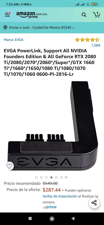 Amazon: EVGA PowerLink, adaptador para que no se vean los cables conectados a tu GPU.