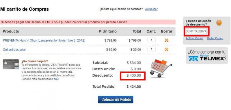 Decompras.com: -$400 en compras de $800 para clientes Bancomer