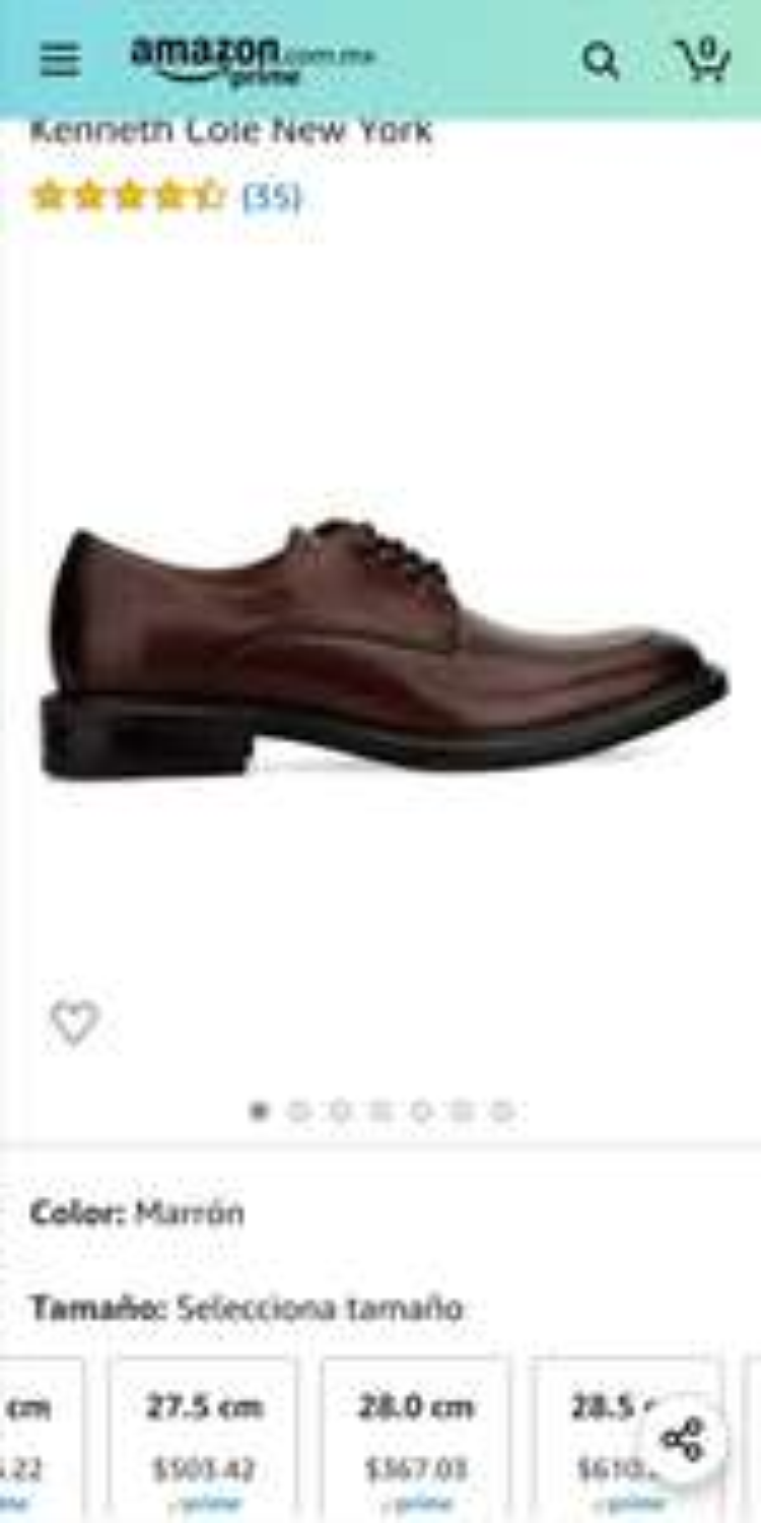 Amazon: Zapatos Kenneth Cole 100% piel, talla 28