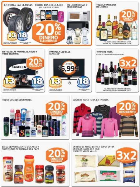 Soriana: monedero en licores, línea Samsung, llantas, celulares y +