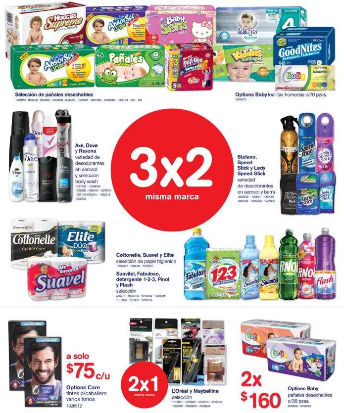 Farmacias Benavides: 3x2 en pañales, 2x1 en L'Oréal y Maybelline y más