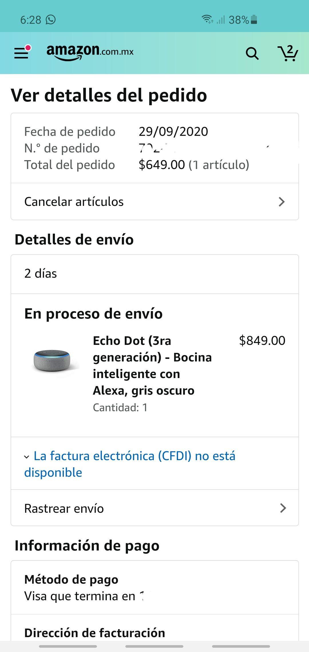 Amazon: Echo Dot 3era Generación, bocina inteligente con Alexa