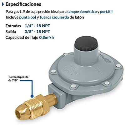 Amazon: Foset RG-100, Regulador para gas, 1 vía