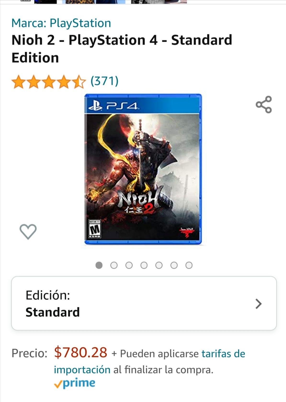 Amazon: Nioh 2 para ps4