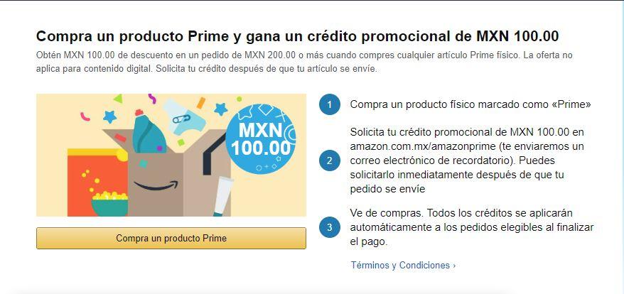 Amazon: $100 de descuento en próxima compra con Amazon Prime (usuarios seleccionados)