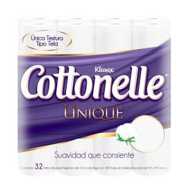 Superama en línea: Papel higiénico Kleenex Cottonelle Unique 32 rollos