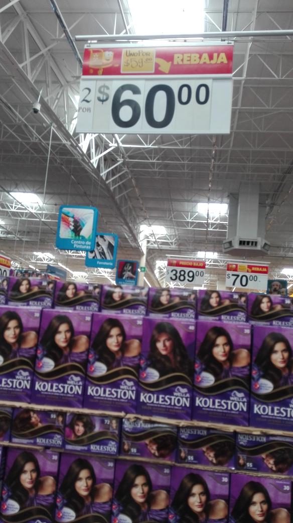 Walmart Macro Plaza Oaxaca: tinte Koleston 2 x $60