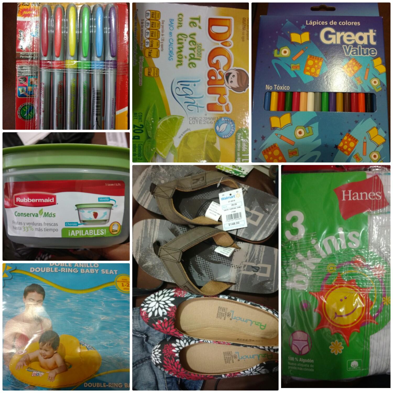 Walmart Ote. Tuxtla: varias liquidaciones, cajonera, marcadores, colores, sandalias y mucho más