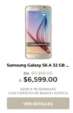 Elektra en línea: Galaxy S6 de 32Gb Reacondicionado