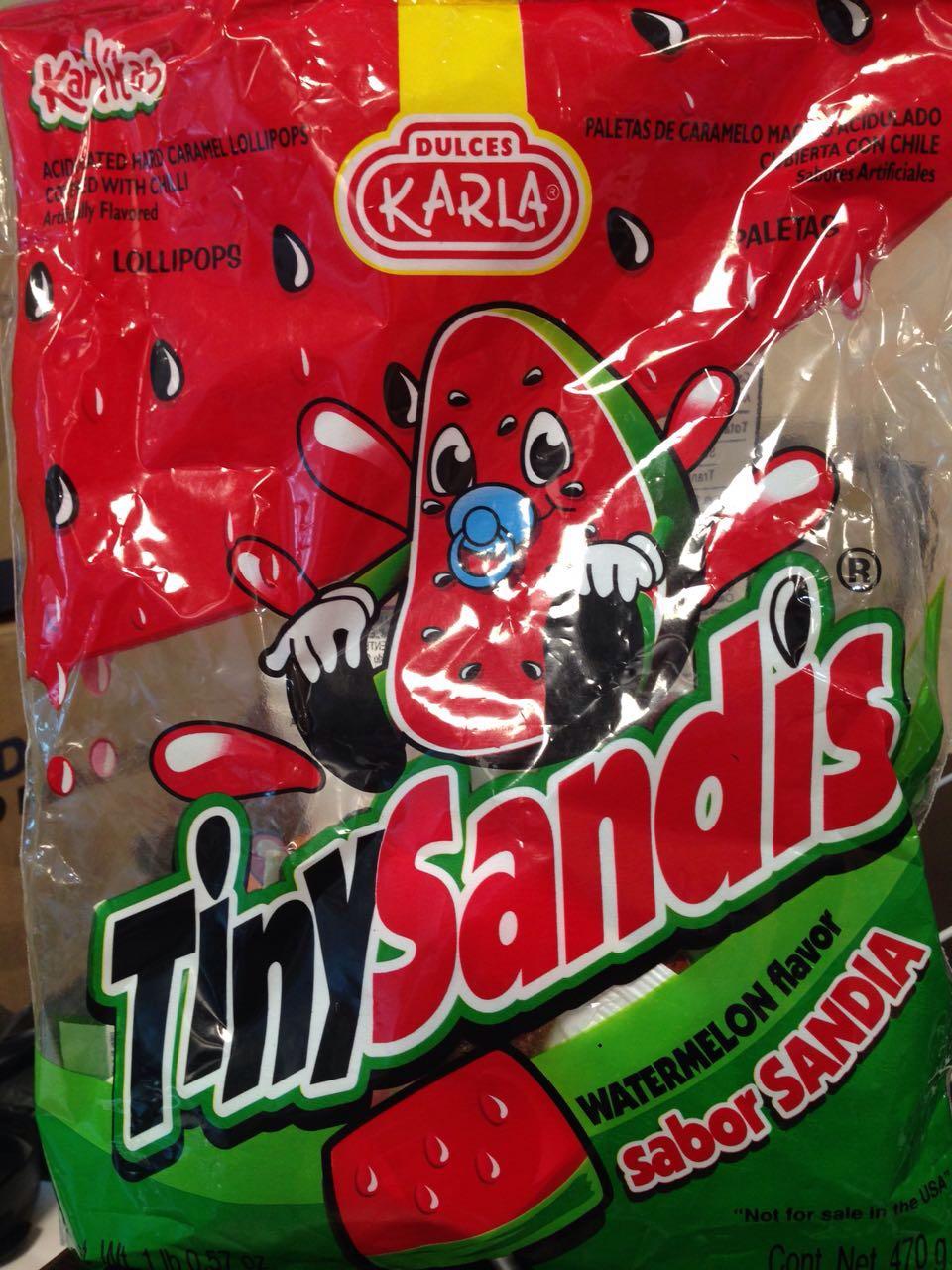 Chedraui: Bolsa de Paletas TinySandis a $3.15