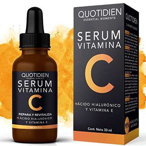 Amazon: QUOTIDIEN Serum Vitamina C + Ácido Hialurónico + Vitamina E- Serum Facial