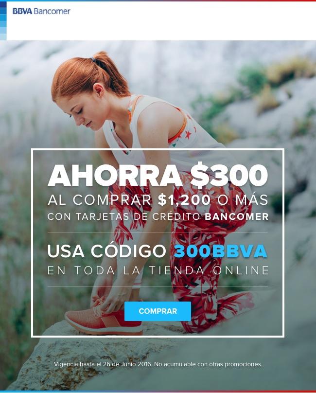 Innovasport: descuento de $300 en compras mayores a $1,200 pagando con Bancomer