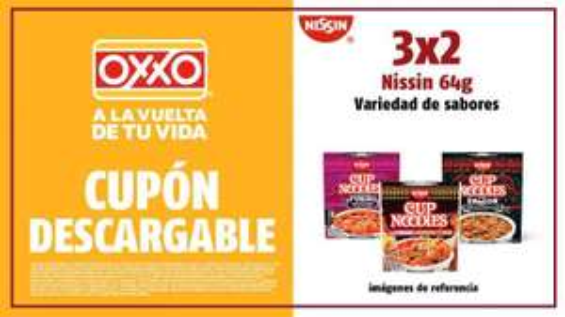 Oxxo: 3x2 SOPAS NISSIN VARIEDAD DE SABORES
