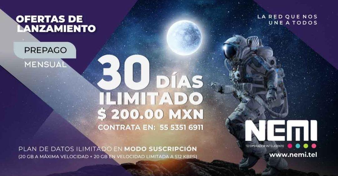 NEMI: Telefonía OMV 20GB + 20GB por $200