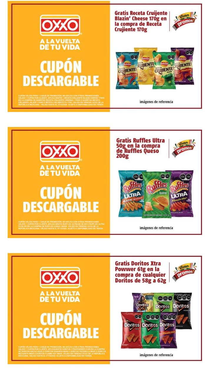 Oxxo : cupones Sabritas, Rufles, Doritos Cup