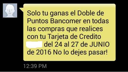 Bancomer: Puntos dobles del 24 al 27 de junio
