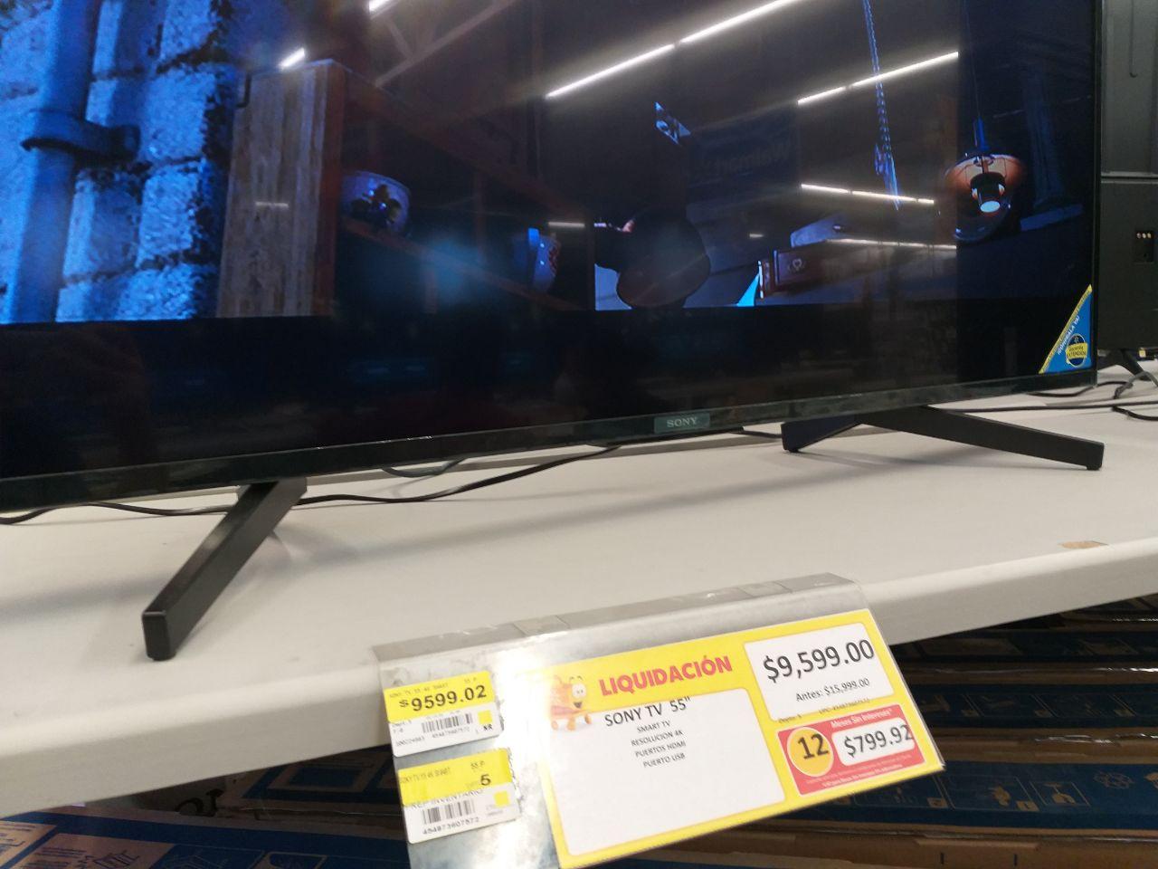 "Walmart: Pantalla Sony 55"" 4K UHD X720F"