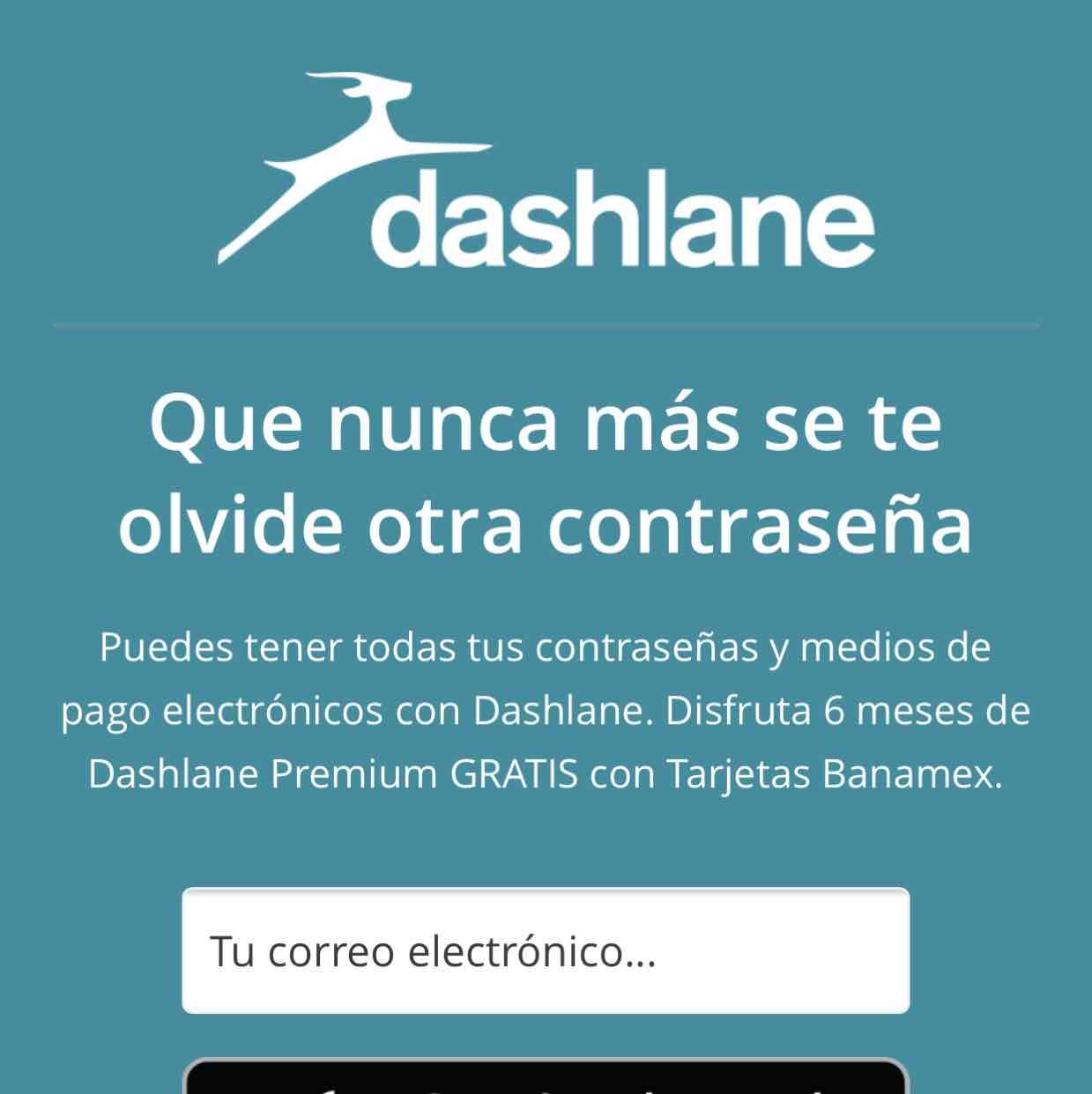 Dashlane: protección de contraseñas grado militar, 6 meses gratis con tarjetas Banamex