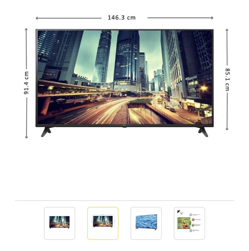 Walmart TV LG 65 Pulgadas 4K Ultra HD Smart TV LED 65UM7300AUE Reacondicionada