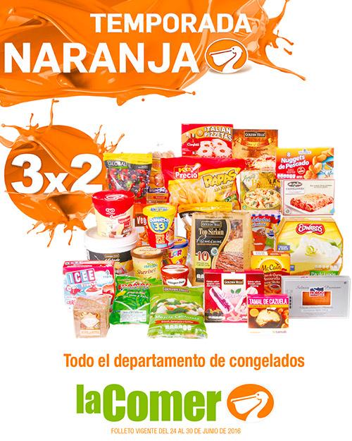 La Comer: Folleto Temporada Naranja (antes Julio Regalado) del 24 al 30 de Junio
