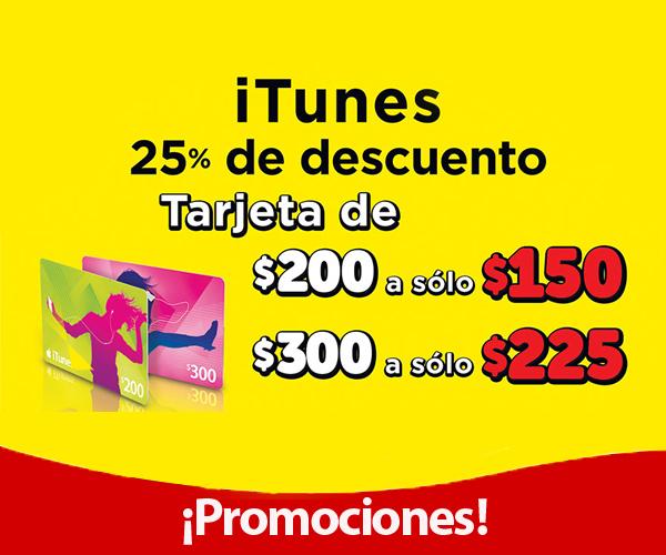 OXXO: 25% de descuento en tarjetas iTunes